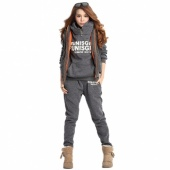 Women Autumn Stylish Hoodies Suit Thickening Leisure Sports Hoodie Hoody + Pant + Vest 3pcs Sets