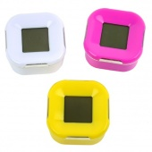 Fashion Four-Sided Clock Rotated Alarm Clock With Temperature Timer Clock