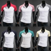 Men Short Sleeve Stylish Candy Color Polo Shirts T-shirts Tops 8 Colors 4 Size