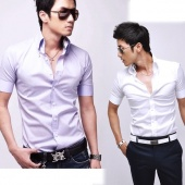 3 Colour New Mens Casual Slim Fit Luxury Stylish Formal Shirts