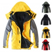 Outdoor Climbing Clothes Fashion Two-piece Men Sports Coat Winter Waterproof Skiing Jacket