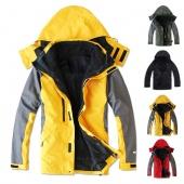 Outdoor Climbing Clothes Fashion Two-piece Men Sports Coat Winter Waterproof Skiing Jacket