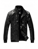 "Fashion British Style Men""s Stand-Collar Zipper Long Sleeve Coat Jacket"