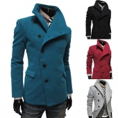 Men's Warm Fitted Long Sleeve Thicken Blazer Lapel Coat Outerwear Jacket