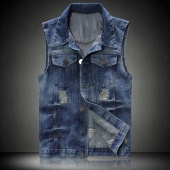 Men's Fashion Casual Stylish Sleeveless Jean Vest Jacket