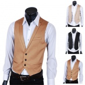 Korean Leisure Single-breasted Coat Vest Waistcoat