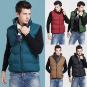 Men's Winter Outdoor Men Fashion Casual Down Vests Waistcoat