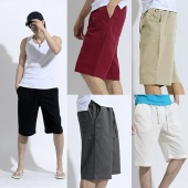 Men's Trousers Bottoms Fifth Pants Straight Leg Shorts Summer Vacation