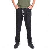 Men's Regular Fit Sports Harem Pants Bag Jogging Trousers Black/Dark Gray