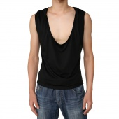 Men's Sleeveless Casual Cotton Solid Color Summer Vest Waistcoat Top