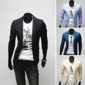 Cheap Men Casual Slim Fit One Button Suit Blazer Coat Jackets New Stylish