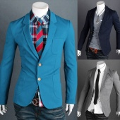 Men's Top Design Casual Slim Fit Two Button Suit Coat Jacket Blazers