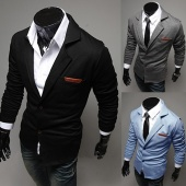 Men Casual Slim Fit Stylish Two Button Suit Blazer Jackets Coats