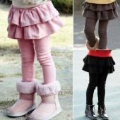 Kids Girls Cake Culottes Leggings with Tutu Skirt Pants