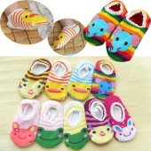 "1 Pair Cute Lovely Infant Toddler Baby""s Cartoon Pattern Ankle Socks Anklet Trainer Socks"