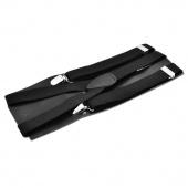 Clip-on Adjustable Unisex Pants Y-back Suspender Braces Black Elastic