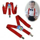 Cartoon Children Toddlers Adjustable Suspenders Trousers Y-Back Brace Kid Baby Red