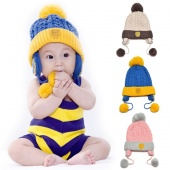Fashion Cute Baby Children Toddler Smile Knitted Hat Cap Winter Ear Hat