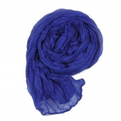 Fashion Women's Long Crinkle Scarf Wraps Soft Shawl Stole Pure Color 8 Colors s