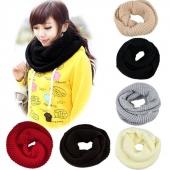 Winter Lady Warmer Knitting Loop Hood Neck Circle Cowl Wool Scarf Shawl Wrap