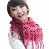 Fashion Women's Winter Warm Knitting Scarf Infinity Tassels Scarf