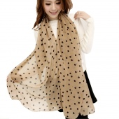 Fashion Women Lady Dots Spot Chiffon Soft Shawl Scarf Neck Wrap Headscarf 5 Colors