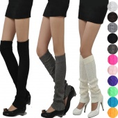 Women's Fashion Knit Crochet Winter Leg Warmer Leggings SocksCZ-60