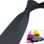 Men's Plain Silk Jacquard Woven Tie Necktie Solid Lot/4pcs Color