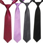 Men's Solid Color Jacquard Woven Silk Twill Stripe Tie Necktie 10 Colors