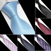 Fashion Men's Microfiber Neckties Tie Neck Ties Striped 8 Colors