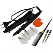 Flat Plate Professional Styler Fusion Hair Extension Keratin Bonding Tool Heat Iron Wand Set