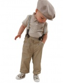 2Pcs Baby Boy Clothes Toddler Set Gentleman Overalls Outfit Top+ Bib Pants 0-4Y