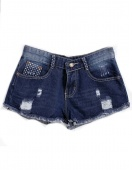 Retro Women's Ladies Ripped Hole Jeans Shorts Denim Jeans Casual Hot Pants