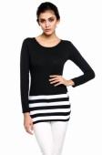 Korean Ladies Large Size Fashion Slim Striped Dress
