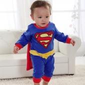 Superman Suit Fancy Dress SuperHero Costume Jumpsuit for Baby Toddler Kid Boy Romper Gift
