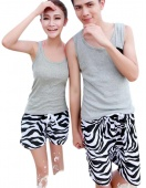 Fashion New Men/Women Beach Shorts Flower Beach Plaid Shorts Sport Star Swimsuit Pants Couple Swimming Wear
