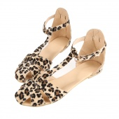 Restoring Women Ladies Sandals Leopard Print Flat Heel Women's Sandals Shoes