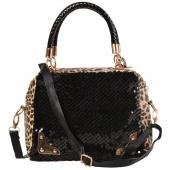 Leopard Sequins Style Designer Handbags Leather Handbags Women Messenger Bags Shoulder Bag