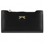 Korean Version of Sweet And Cute Bow Multi- Card Handbag Ms. Long Wallet