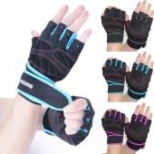 1 Pair Sports Fashion Gym Cycling Bike Bicycle Shockproof Sports Half Finger Glove
