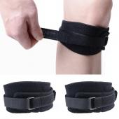 2 PCs Sports Knee Compression Sleeve PATELLA Kneecap Coverage Black