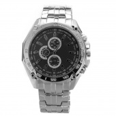 Men's Fashion Stainless Steel Belt Sport Business Quartz Watch Wristwatches