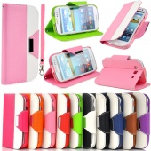 Hybrid Wallet Card Holder PU Leather Stand Case Flip Cover FOR SAMSUNG Galaxy S3 I9300 S III