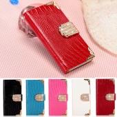 Bling Diamond Wallet Luxury Leather Magnetic Flip Cover Case for Motorola MOTO G