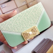 Wallet Card Holder Leather Flip Case Cover for Samsung Galaxy S3 S4 Note3 for IPhone 4/4S 5/5S