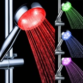 Multiple Color 7 Colors Automatic Jump Changing Water Flow Showerhead Bath LED Handle