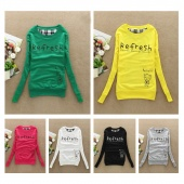 Spring Women Ladies Cotton Letter Printed Sweatshirt Hooded Cartoon Hoody Hoodies Coat