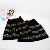 Women's Fluffy Rivet High Waist Elastic Ball Gown Short Skirt
