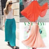 Fashion Women's Bohemian Chiffon Summer Beach Long Maxi Dress Long Skirt