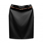 Fashion Women's Business Suit Pencil Skirt Elegant Vocational OL Skirts with Belt